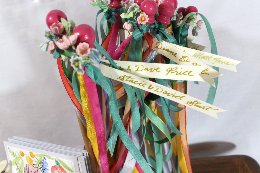 Midsummer Dinner Party - Personalized Maypoles by Aimee Ferre