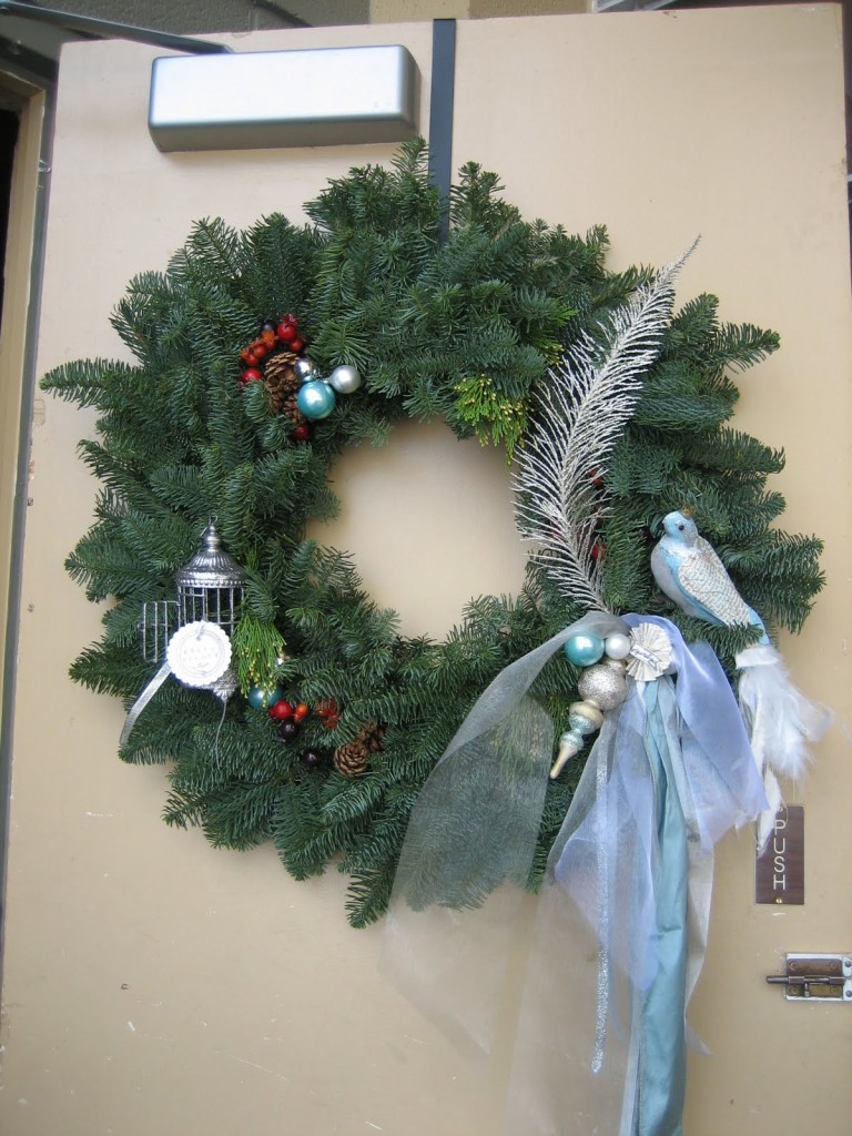 Christmas Bird Wreath