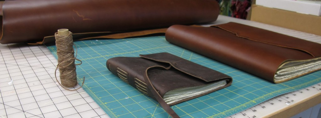 Rustic Leather handcrafted book