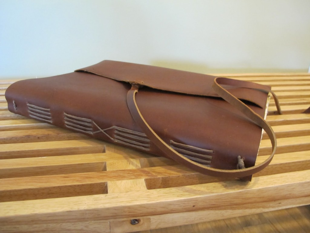 Rustic Leather Bound Book