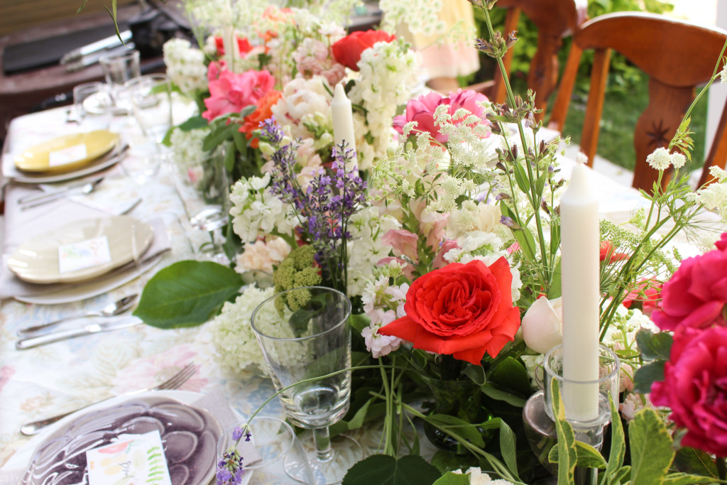 Midsummer Party - A Fragrant & Tasty Soirée - Table Setting - Aimee Ferre