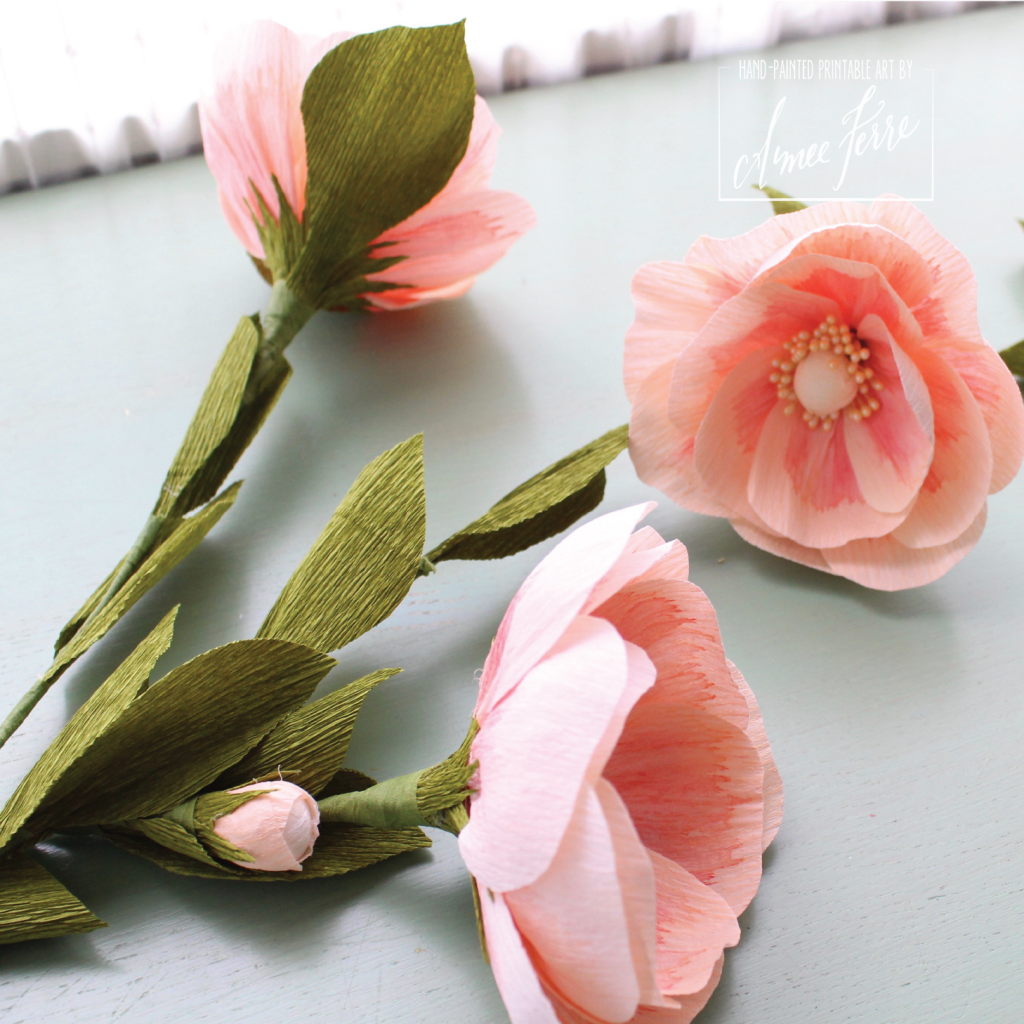 Heirloom Crepe Paper Flower Roses Diy Aimee Ferre