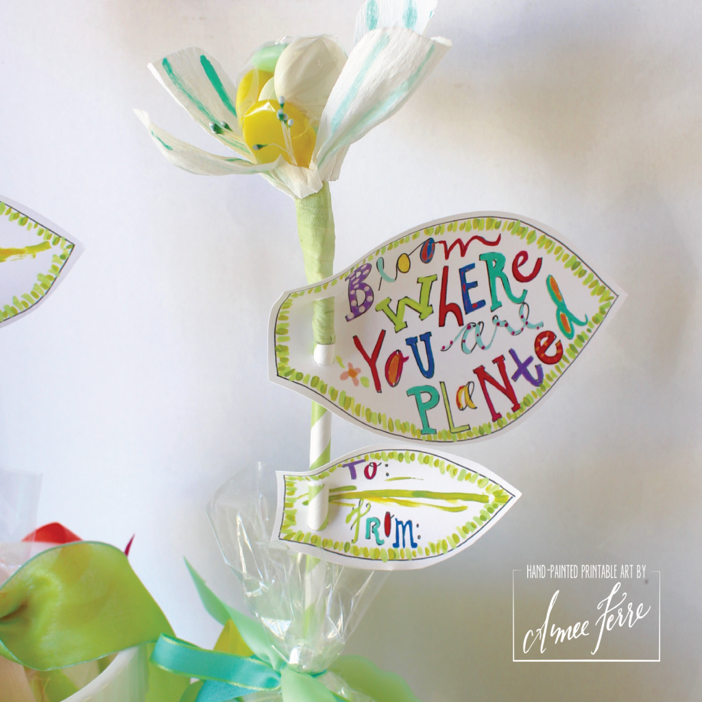 Free Paper Flower Leaf Printable - Bloom Where You Are Planted