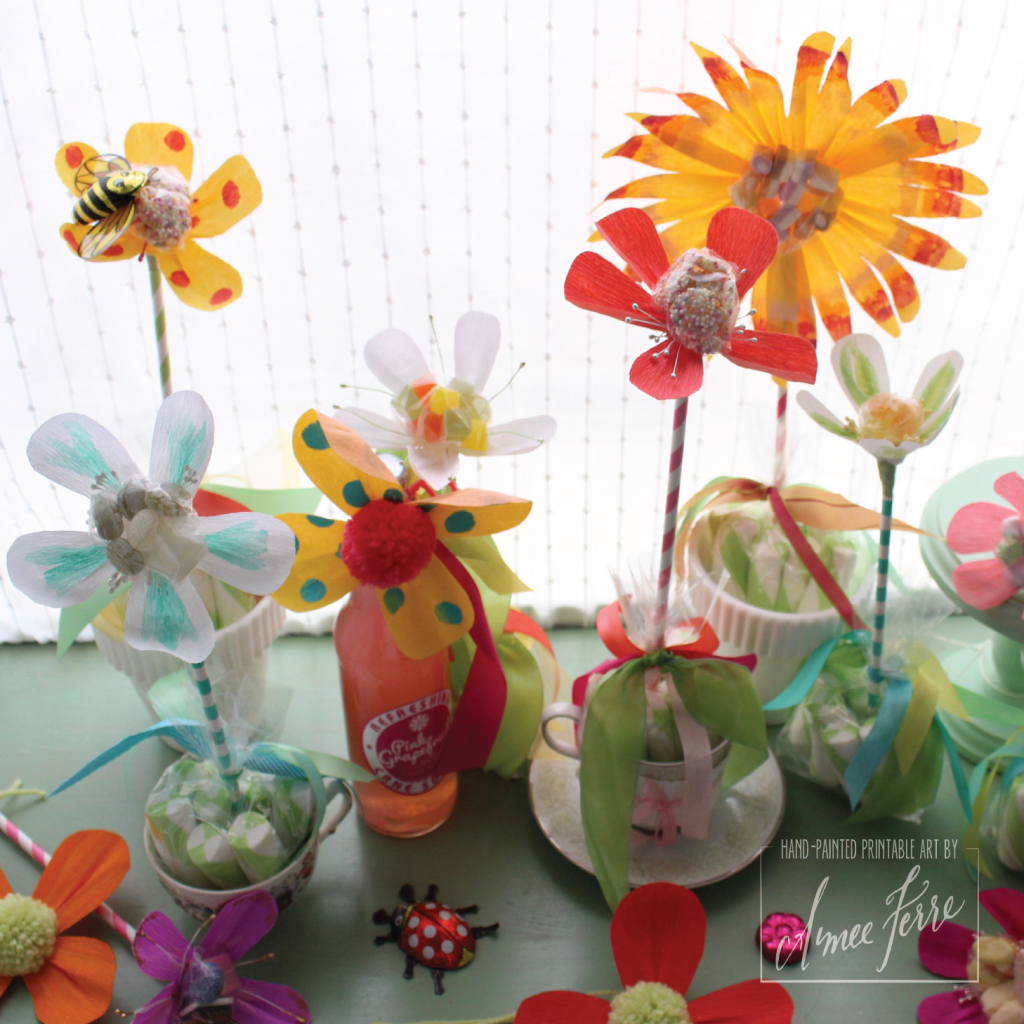 Candy Paper Flowers