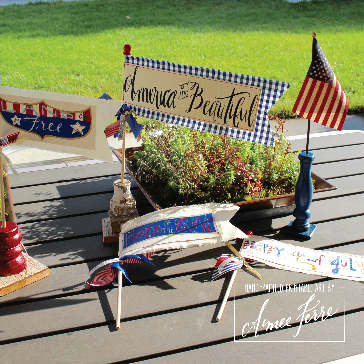 7 Patriotic Flag Centerpiece-01