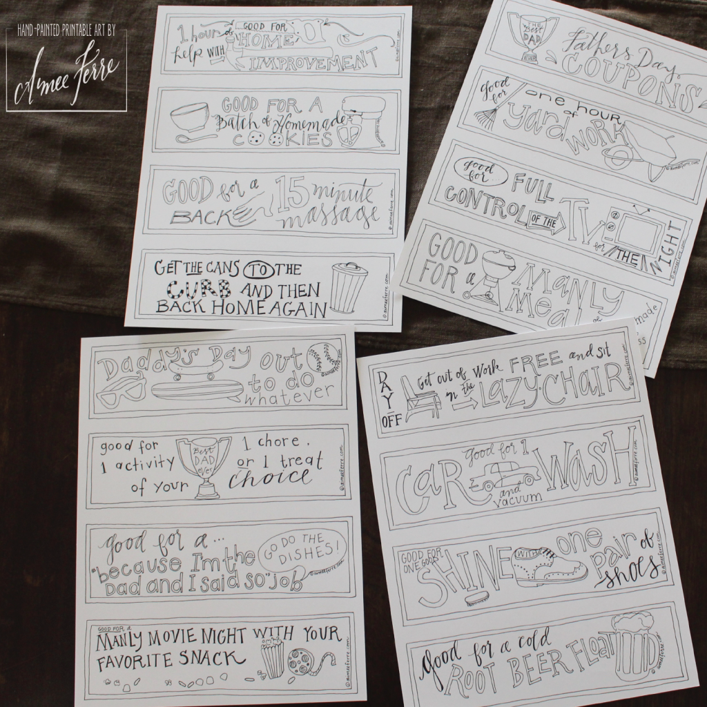 Father's Day Printables Coupons