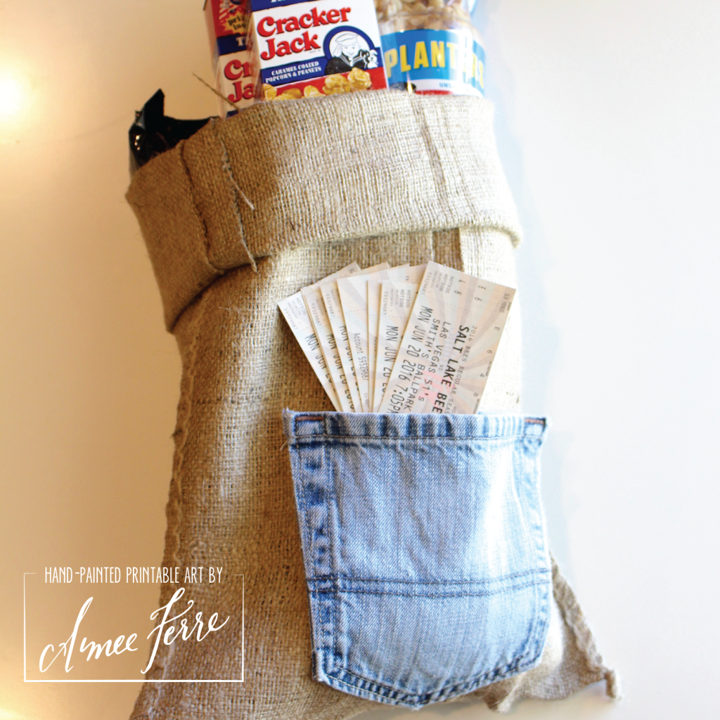 Fathers Day Gift Bag Denim Pocket