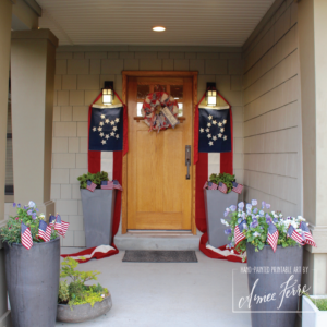 Passion for the Americana Patriotic Porch Decor