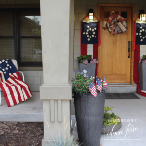 Americana Patriotic Porch Decor