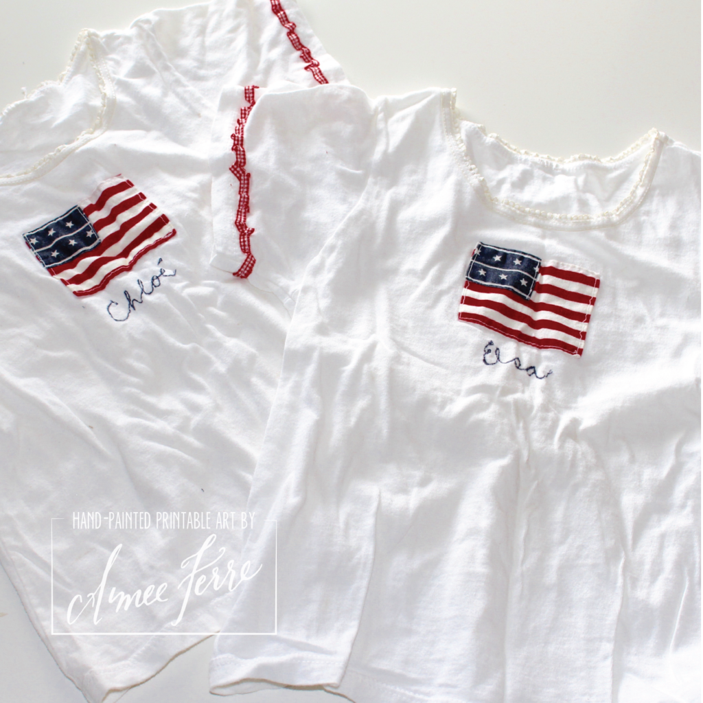Children's Handmade Patriotic Outfits for the Fourth of July Parades