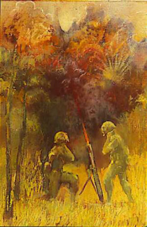 Vietnam Combat Artist CAT 04 Burdell Moody Big and Little Firepower