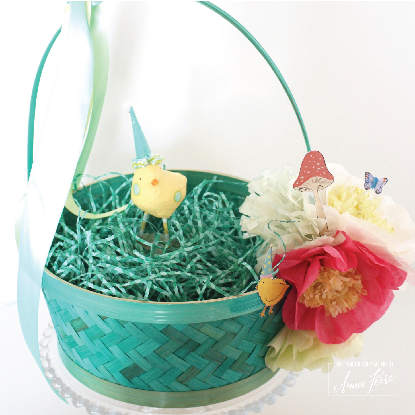 Easter baskets with coffee filter flowers and illustrated clip art 2017 happiestbasketsrteal19 01 inexpensive easter baskets negle Image collections