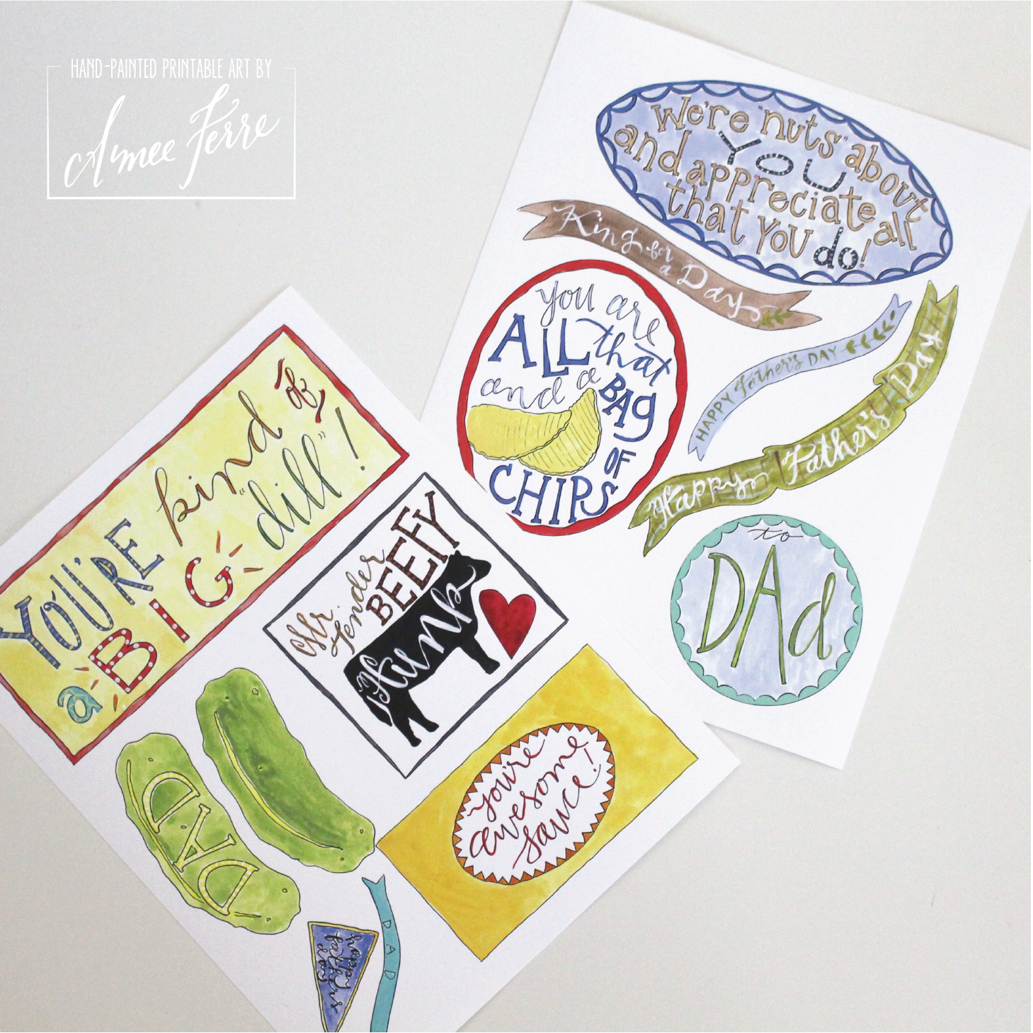 father s day manly food gift tags aimee ferre