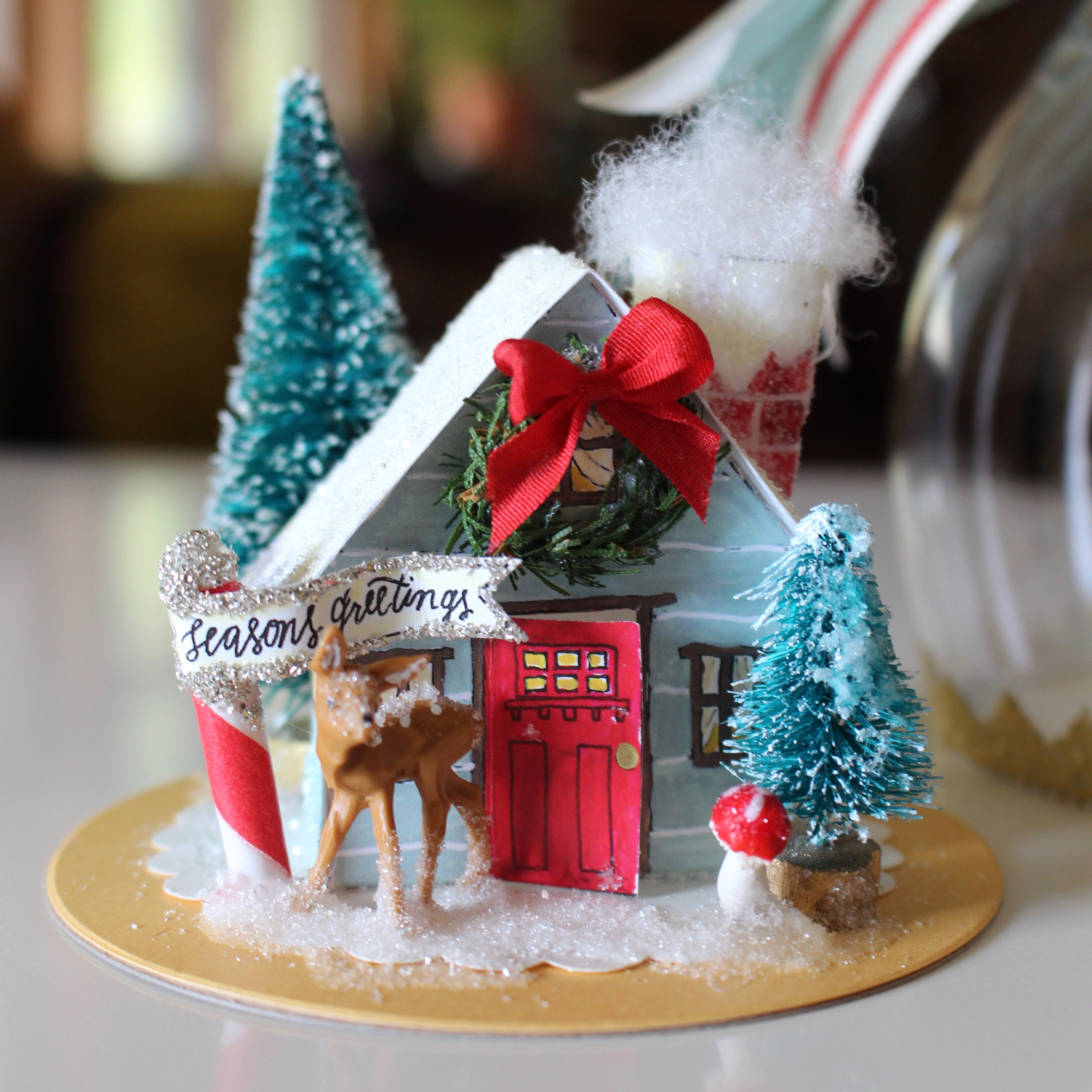 How To: DIY Holiday Snow Globe At Pinners Conference